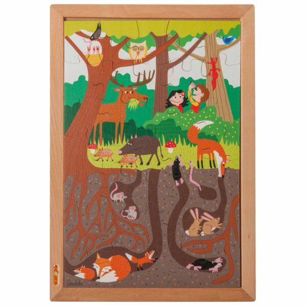 În pădure - Colecția - Deasupra și dedesubt - puzzle educativ din lemn - Educo by Didactopia 1