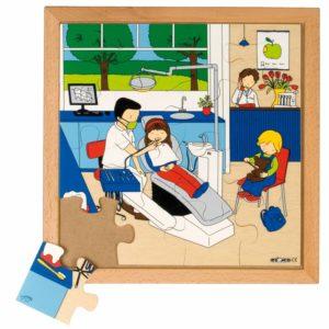 La dentist - Colectia - Sanatate - Puzzle educativ din lemn - Educo by Didactopia