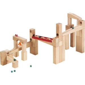 Circuit Labirint bile lemn - Set mare - Haba Germania