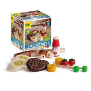 Set alimente lemn de jucărie pentru copii - Grill Party