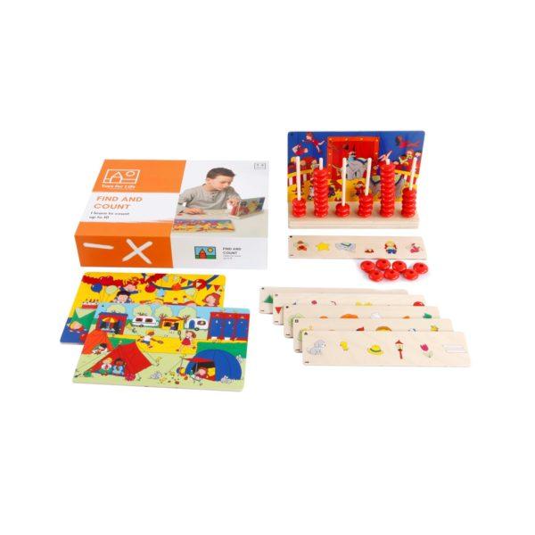 Cauta si numara - Joc de numarare si atentie - Toys for Life prin Didactopia 2