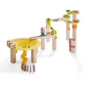 Circuit Labirint bile lemn - Funnel Jungle - Set efecte - Haba Germania