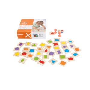 Inhata Forma - joc rapid de asociere forme si culori - Toys for Life prin Didactopia