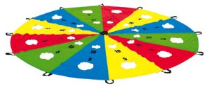 Parasuta joaca cu gauri - 3 metri diametru - cu 8 manere - Sport Thieme 2