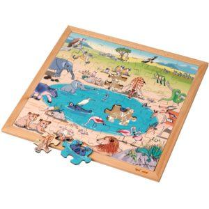 Savana - Colecția - Habitate - Puzzle educativ din lemn - Educo by Didactopia 1