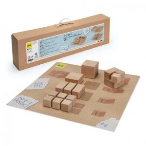 Set educativ - Întreg şi Fracţii - lemn natur -- Erzi prin Didactopia 1