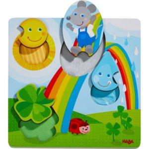 Puzzle tactil din lemn - Șoricel -Copii mici. HABA prin Didactopia 02