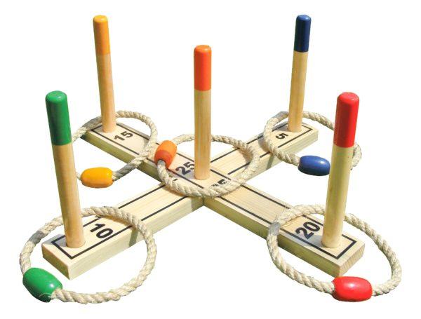 Bandito-joc clasic de aruncare inele-indoor outdoor-lemn-Sport Thieme