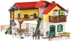 Casa fermierilor - grajd cu animale si accesorii - Farm World - figurine Schleich