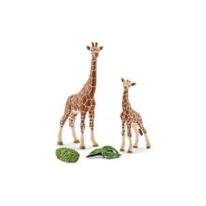 Colectie Wild Life - Girafa cu pui - figurine Schleich