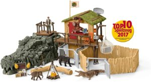 Croco - Statiunea de cercetare din jungla - Playset cu animale si accesorii - Wild Life - figurine Schleich