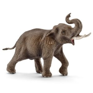 Elefant asiatic mascul - Wild Life - figurine Schleich 14754
