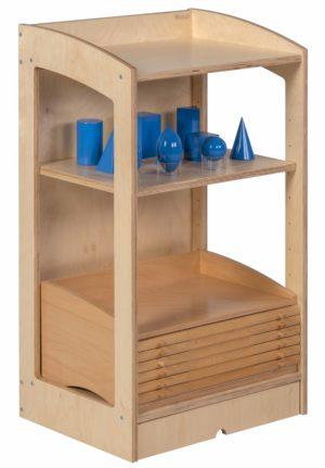 Geometry / Biology Cabinet: Rear Panel (93 cm)-produs original Nienhuis Montessori-prin Didactopia by Evertoys