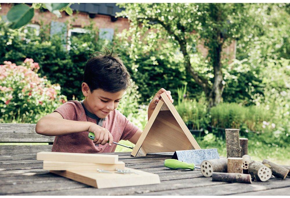 Hotel pentru insecte - Set bricolaj lemn - Activităţi outdoor copii - Terra Kids HABA prin Didactopia 2