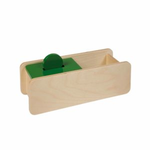Imbucare Box With Flip Lid – 1 Slot-produs original Nienhuis Montessori-prin Didactopia by Evertoys