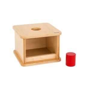 Imbucare Box With Large Cylinder-produs original Nienhuis Montessori-prin Didactopia by Evertoys