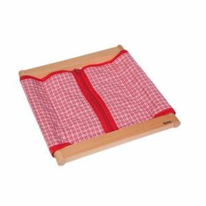 Infant / Toddler Dressing Frame: Large Zipper-produs original Nienhuis Montessori-prin Didactopia by Evertoys