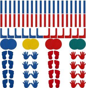 Marcaje podea - Forme diverse - Set de 76 piese - Aderenta mare fara adeziv 2