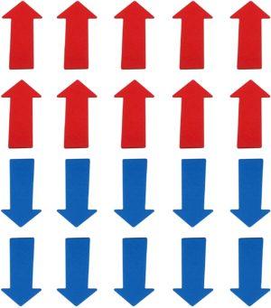 Marcaje podea - Sageti - Set de 20 - Aderenta mare fara adeziv