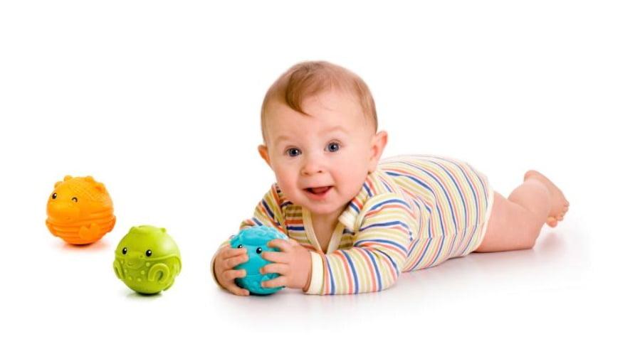 Mingi senzoriale - Manevrează, Ascultă, Atinge - Mingi cu structură interactivă - Bebe 4