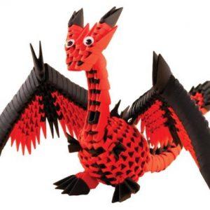Origami 3D - Dragon - Set bricolaj hârtie. CreativaMente by Didactopia 1