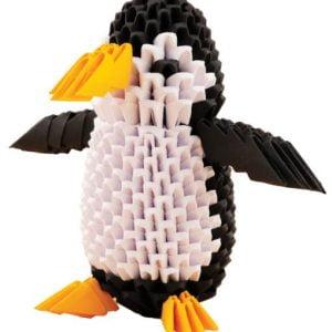 Origami 3D - Pinguin - Set bricolaj hârtie. CreativaMente by Didactopia 1