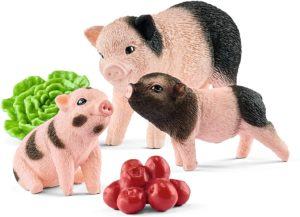 Porc pitic cu purcei - Farm World - figurine Schleich 2