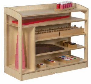 Sensorial Cabinet: Open Back (93 cm)-produs original Nienhuis Montessori-prin Didactopia by Evertoys