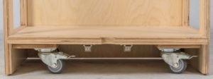 Set Of 4 Casters With Brakes-produs original Nienhuis Montessori-prin Didactopia by Evertoys