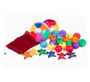 Set mare de accesorii pentru parasute de joaca - Spordas prin Didactopia