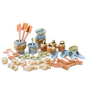 Set mare forme pentru nisip - 50 de piese din BIOplastic - Dantoy