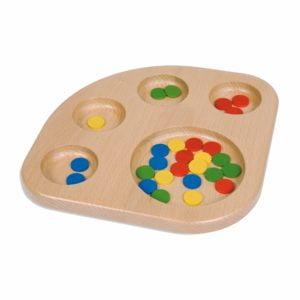 Sorting Tray-produs original Nienhuis Montessori-prin Didactopia by Evertoys