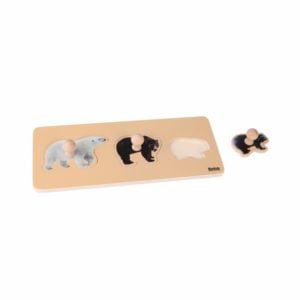 Toddler Puzzle: 3 Bears-produs original Nienhuis Montessori-prin Didactopia by Evertoys