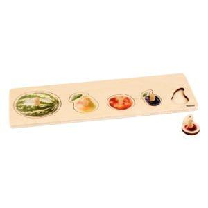 Toddler Puzzle: 5 Fruits-produs original Nienhuis Montessori-prin Didactopia by Evertoys