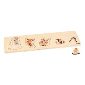 Toddler Puzzle: 5 Pets-produs original Nienhuis Montessori-prin Didactopia by Evertoys