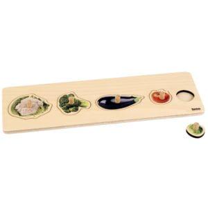 Toddler Puzzle: 5 Vegetables-produs original Nienhuis Montessori-prin Didactopia by Evertoys