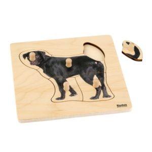 Toddler Puzzle: Dog-produs original Nienhuis Montessori-prin Didactopia by Evertoys