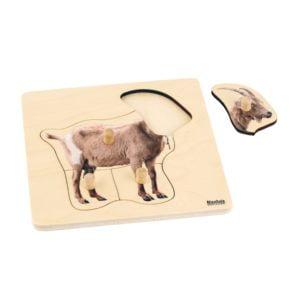 Toddler Puzzle: Goat-produs original Nienhuis Montessori-prin Didactopia by Evertoys