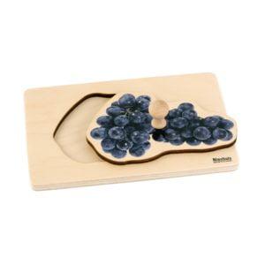 Toddler Puzzle: Grapes-produs original Nienhuis Montessori-prin Didactopia by Evertoys