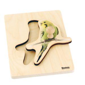 Toddler Puzzle: Parakeet-produs original Nienhuis Montessori-prin Didactopia by Evertoys