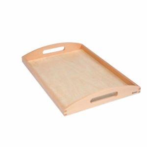 Wooden Tray Large-produs original Nienhuis Montessori-prin Didactopia by Evertoys