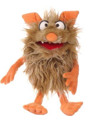 Flausi, monstrulețul bun la toate - Marionetă - Păpuşă de mână, 35cm - Living Puppets by Didactopia 2