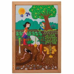 În grădină - Colecția - Deasupra și dedesubt - puzzle educativ din lemn - Educo by Didactopia 1