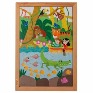 În junglă - Colecția - Deasupra și dedesubt - puzzle educativ din lemn - Educo by Didactopia 1