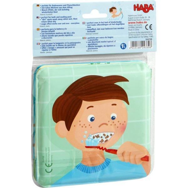 Paul si Pia. Timpul pentru baie - Carte tip jucărie pentru baie - HABA by Didactopia 3