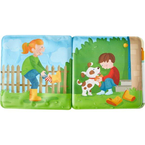 Paul si Pia. Timpul pentru baie - Carte tip jucărie pentru baie - HABA by Didactopia 4