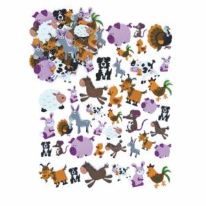 Rubber figures - Farm animals - 96 pcs.-Educo-prin Didactopia by Evertoys