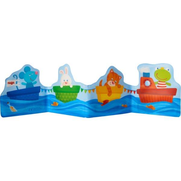 Salut animaluțe marinari! - Carte tip jucărie pentru baie - HABA by Didactopia 2