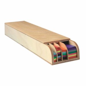 Weaving strips display - Wood-Educo-prin Didactopia by Evertoys
