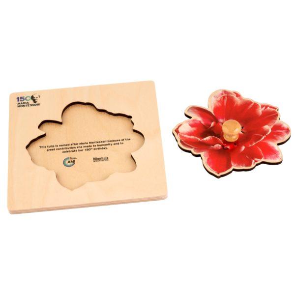 mm150 - Puzzle aniversar Maria Montessori 150 ani - Laleaua - original Nienhuis Montessori